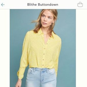 Anthropologie Blithe Blouse (Red Motif)